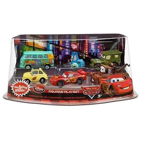 DISNEY CARS 2 LIGHTNING MCQUEEN PIT CREW 6 FIGURINE CAKE ...